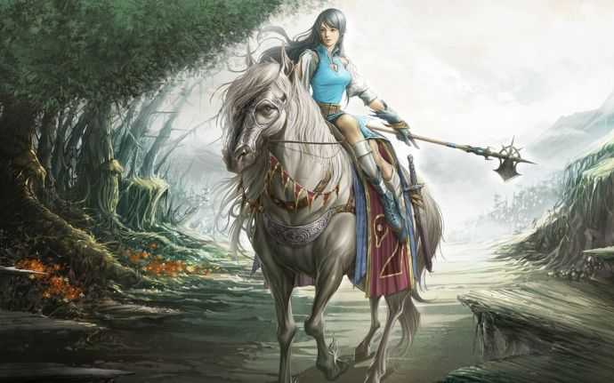 Fantasy-Girl-Horse-Riding-by-hqwallpaper.in